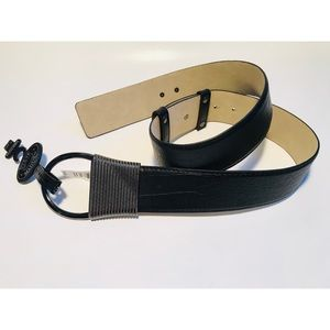 Steve Madden Black Wide Adjustable Belt Sz. OS NEW